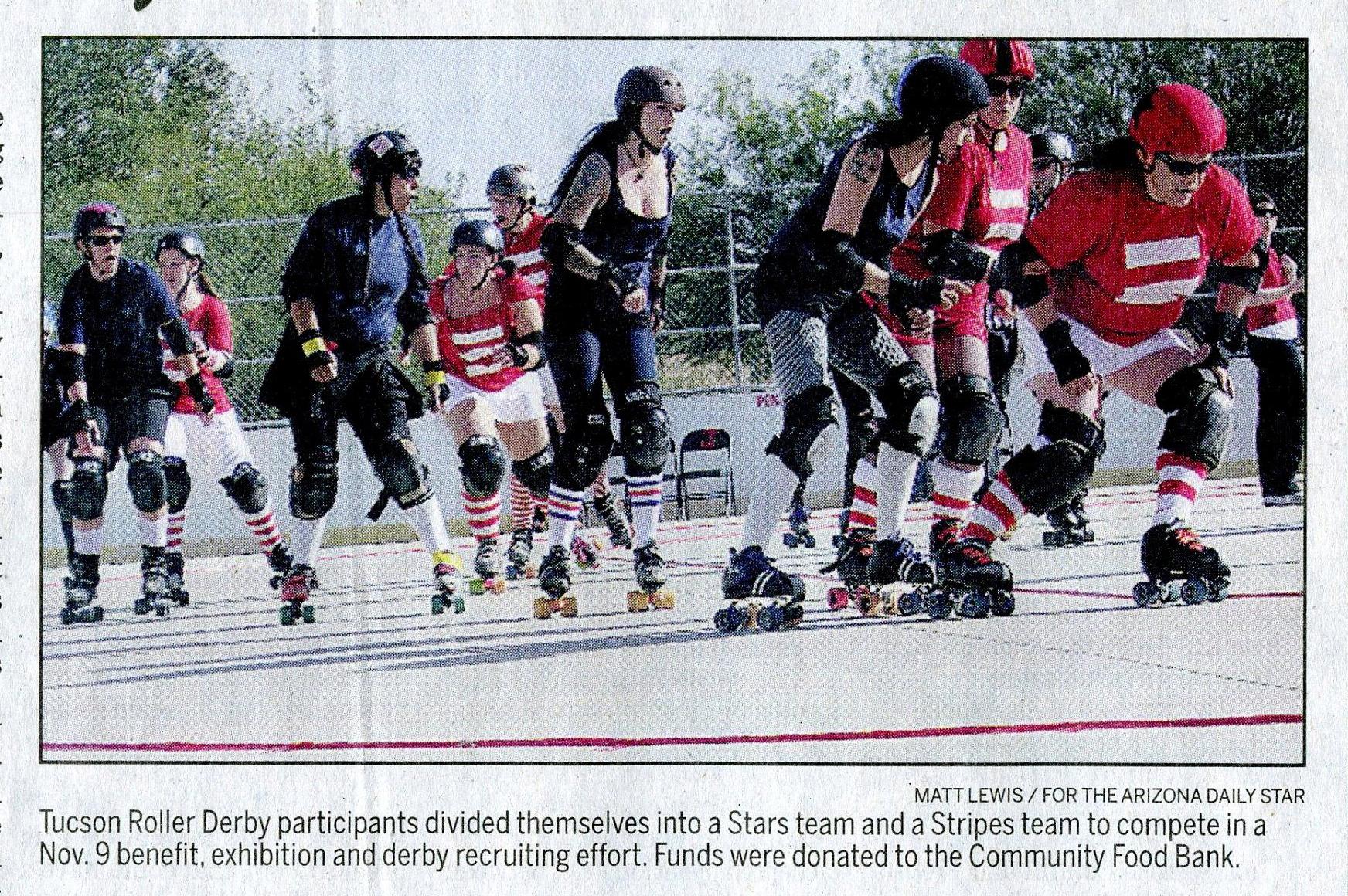 Roller derby women honor veterans - Arizona Daily Star