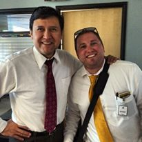 Matt Lewis circa June 30, 2015 in the azcentral/12 News Studio Tour with James Quiñones.